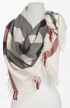 Check Merino Wool Scarf