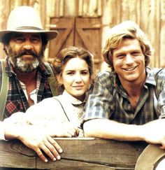 """**Little House on the Prairie """"A New Beginning"""" ~  Mr. Edwards, Laura & Almanzo ~ Loved Mr. Edwards ~ Sadly Victor French passed away on June 15,1989 from lung cancer**"""