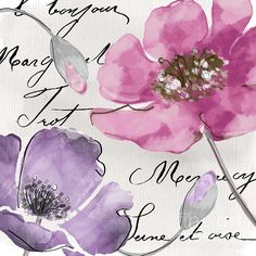 Fleurs De France IIi Print by Mindy Sommers