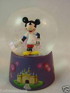 I Speak for Mickey Mouse Mini Snowglobe 75th Disney Inspearations 17844 Retired #Westlandgiftware #Snowglobe