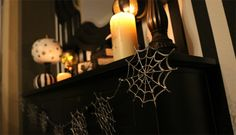 How to make a Spiderweb Garland with a glue gun...so easy, it's scary!