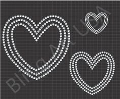 Heart Rhinestone Files Templates Pattern Bling Love SVG PLT EPS PDF Stone Stencil Romance System Easy Hearts Sticky Flock Lust Color