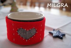 MILGRA: Walentynki - kubeczek Tableware, Diy, Dinnerware, Bricolage, Tablewares, Do It Yourself, Dishes, Place Settings, Homemade
