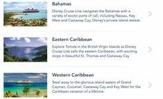 2017 Disney Cruise Line itinerary options reveal full menu  #cruises