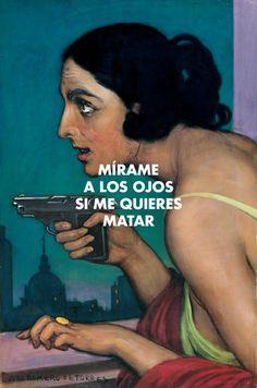 """ Julio Romero de Torres - Mujer con Pistola (1925) // La Mala Rodríguez - Nanai (2007) "" Classic Movies, Movies And Tv Shows, Movie Tv, Cool Pictures, Rap, Che Guevara, Arte Pop, My Love, Celebrities"
