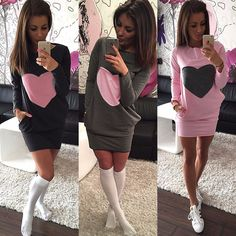 Fashion Winter Women Long Sleeve Bodycon Cocktail Party Sexy Mini Dress Sweater #Unbranded #StretchBodycon #Party