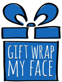 Gift Wrap My Face | Custom Gift Wrapping Paper