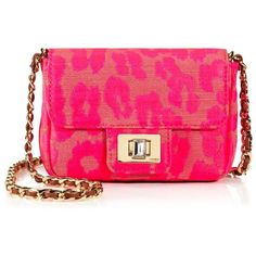 Juicy Couture Neon Leopard Mini Shoulder Bag (215 BRL) ❤ liked on Polyvore featuring bags, handbags, shoulder bags, purses, accessories, neon pink, handbags crossbody, mini crossbody purse, juicy couture handbags and pink shoulder handbags