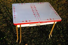Vintage Enamel Dining Table.
