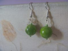 Bird Earrings, Green Earrings, Earrings Photo, Etsy Earrings, Drop Earrings, Lanyard Necklace, Nickel Free Earrings, Free Silver, Star Shape