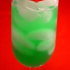 Midori Green Hornet (1/2 oz midori melon liqueur 1/2 oz peach schnapps 1/2 oz blue curacao 1 1/2 oz prepared sweet-and-sour mix 1 1/2 oz pineapple juice)