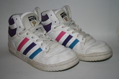 Adidas Top Ten Basket 70s Style Designer Vintage Retro Trainers UK 5 White Dance