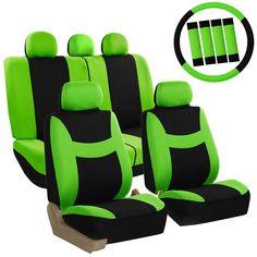Harness Belt Car Seat Covers Set 12 Piece Urban X BLACK Steering Wheel