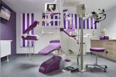 Purple chairs, beige cabinets