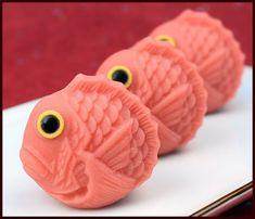Wagashi pink fish Pin