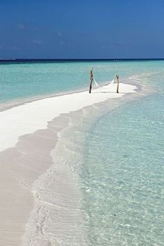 Sandbar with perfectly placed hammock- Constance Moofushi Resort Maldives