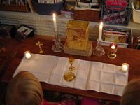 "CGS at home - ""doing altar work"" - from Story Teller Easterkind"