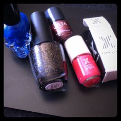 """Nail Polish Bundle 4 brands Hot Topic Blue Skull Nail Polish. OPI nail lacquer in """"frog in my throat"""" .5 fl oz. ULTA polish in """"sunset bronze"""" .20 fl oz. FORMULA X polish in """"power source"""" .13 fl oz. all unused. Bundle to Save More Price is Firm unless bundled. Trades, sales only (saving for my poshmark wedding dress purchase) Opi Makeup"""
