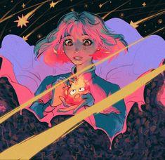 Studio Ghibli Art, Studio Ghibli Movies, Miyazaki, Pretty Art, Cute Art, Art Sketches, Art Drawings, Dibujos Tumblr A Color, Fanart