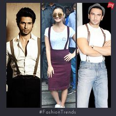 #ThrowbackThursday: A trend which was a mix of casual and formal attire!  #SuspendersDay #ShahidKapoor #AliaBhatt #RanveerSingh #Befikre #DearZindagi #bollywood #instabollywood #instafashion #fashion #instastyle #style #beauty #instabeauty #instalike #instafollow #follow4follow #like4like #igers #instapic #instaphoto #bollywoodfashion #bollywoodstyle