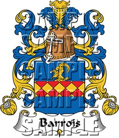 Barrois Family Crest apparel, Barrois Coat of Arms gifts