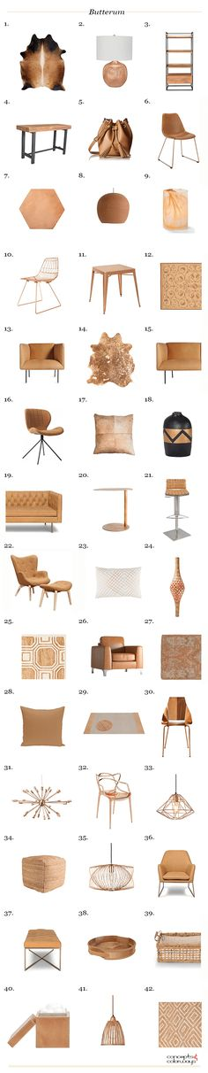 pantone butterum product roundup, interior styling, interior design, get the look, color for interiors, light brown, caramel brown, copper brown, camel brown, copper tan, butterscotch, terra cotta, clay brown, copper