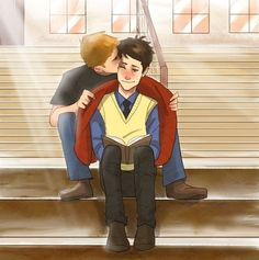 School au destiel. THIS IS MY FAVORITE THING IN THE WHOLE WORLD! IT WILL HAUNT MY DREAMS!