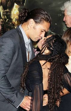 """Premiere Of Lionsgate Films' """"Conan The Barbarian"""" - Arrivals, August 10, 2011 In this photo: Jason Momoa & Lisa Bonet"""