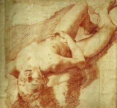 Reclining boy by Annibale Carracci