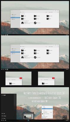 Nost Metro Theme Windows10 Fall Creators Update 1709  Download https://www.cleodesktop.com/2017/10/nost-metro-theme-windows10-fall.html #Cleodesktop #Windows10