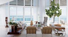 Fiddle Leaf Fig Tree Home Living Room, Living Room Designs, Living Room Decor, Living Area, Living Spaces, Indoor Trees, Indoor Plants, Potted Plants, Large Plants