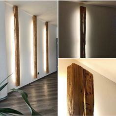 Lamp I by woodesign – let cosiness move in 😊💡The wall light … - Beleuchtung Living Room Accents, Home Accents, Indirect Lighting, Wood Design, Sweet Home, Wall Lights, New Homes, Interior Design, Home Decor