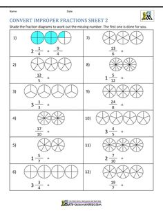7 Mixed Numbers and Improper Fractions Worksheet Improper Fraction Worksheets √ Mixed Numbers and Improper Fractions Worksheet . 7 Mixed Numbers and Improper Fractions Worksheet . Improper Fraction Worksheets in Number Worksheets Mixed Fractions Worksheets, Fractions For Kids, 4th Grade Fractions, Simplifying Fractions, Multiplying Fractions, Printable Math Worksheets, Number Worksheets, Dividing Fractions, Multiplication