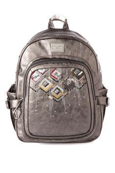 aad711139ebc Heather Ikat Backpack in Gunmetal - Miss Me Jeans - The Original  Embellished Denim