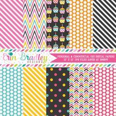 Cupcake Party Digital Paper Pack – Erin Bradley/Ink Obsession Designs