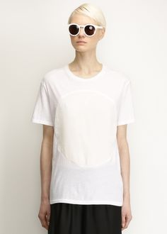 Totokaelo - Correll Correll White / White Velvet Circle T-shirt