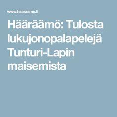 Hääräämö: Tulosta lukujonopalapelejä Tunturi-Lapin maisemista