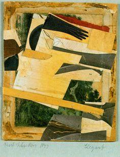 Kurt Schwitters - Elegant, collage, 1941
