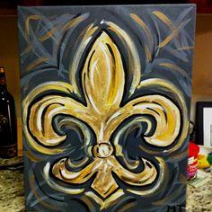 Fleur de Lis - Painting with a Twist!!!