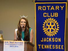 miss tennessee 2015 | Miss Tennessee 2015 Hannah Robison spoke at the Jackson Rotary Club ...