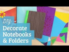Back to school tutorial — fun and simple ways to decorate your notebooks and folders.