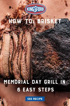 Looking for some inspiration for the long Memorial Day weekend? The grill always becomes the center of a great cookout in your own backyard. Check out our favorite how-to guides for all things grilling. Beef Brisket Recipes, Smoker Recipes, Meat Recipes, Cooking Recipes, Vegetarian Recipes, Recipies, Grilling Tips, Grilling Recipes, Memorial Day Foods