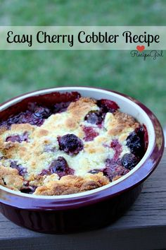 Easy Cherry Cobbler Recipe - RecipeGirl.com