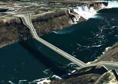 These surreal pictures by artist Clement Valla are taken from Google Earth. When the viewpoint is in just the right position, the program shows warped linear figures such as roads and bridges in its effort to convert 3D space to a 2D screen.