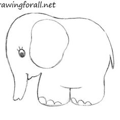 how to draw an elephant for kids drawing - Images Of Drawings For Kids