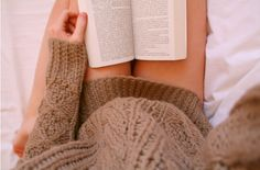 Two of my favorite things Cable Knit sweaters and BOOKS