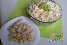 Celerový salát s ananasem a pórkem   NejRecept.cz Potato Salad, Oatmeal, Grains, Rice, Potatoes, Breakfast, Ethnic Recipes, Food, Pineapple Salad