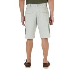Wrangler Men's Big & Tall Cargo Shorts - Dark Khaki (Green) 44