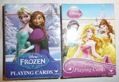 2 Decks of Playing Cards Lot - Disney Princess - Frozen Elsa Anna Olaf - Girls  #Cardinal