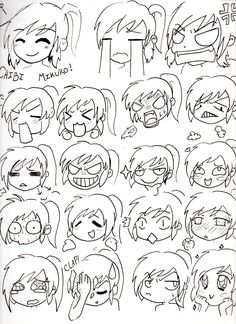 Chibi Mikuro Expressions by Mimi D